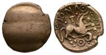 Celtic Iron Age Coins - Cantiaci - Dubnovellaunus - Serpent Gold Stater