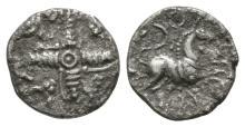 Celtic Iron Age Coins - Cantiaci - Dragon Cross Silver Unit