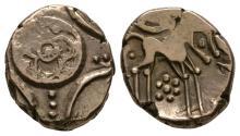 Celtic Iron Age Coins - Iceni - Freckenham Flower Big Wheel Gold Stater