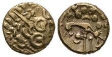 Celtic Iron Age Coins - Iceni - Norfolk Wolf Right Gold Stater