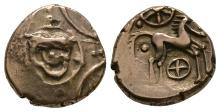 Celtic Iron Age Coins - Iceni - Freckenham Flower Two Wheels Gold Stater