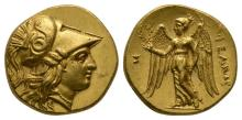 Ancient Greek Coins - Macedonia - Alexander III (the Great) - Nike Gold Stater