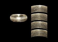 Post Medieval Gold 'God hath kept thy hart for mee / Grant our love may faythfull bee' Posy Ring