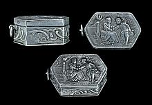 Post Medieval French Patch Box with Lovers Scene