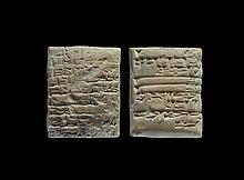 Western Asiatic Babylonian Cuneiform Clay Tablet