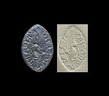 Medieval 'Richard Lekche' Vesica Seal Matrix