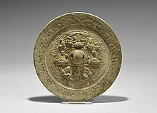 Chinese Mirror Decorated with Dragons