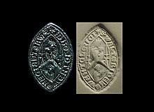 Medieval 'Clerk Walter de Newent' Vesica Seal Matrix