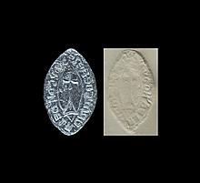Medieval 'Hugh De La Croix of Pershore Abbey' Seal Matrix