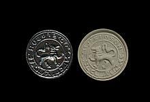 Medieval Jewish 'Lion Passant' Seal Matrix