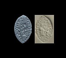 Medieval 'Clerk William of Calvomote' Vesica Seal Matrix