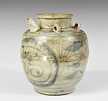 Chinese Grey-Glazed Tea Pot