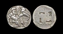 Ancient Greek Coins - Thrace - Thasos - Satyr Abducting Nymph Stater