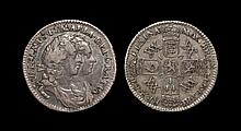 English Milled Coins - William & Mary - 1693 - Sixpence