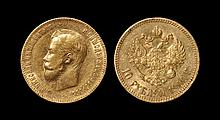 World Coins - Russia - Nicholas II - 1900 - Gold 10 Roubles