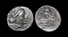 Ancient Greek Coins - Histiaia - Nymph on Prow Tetrobol