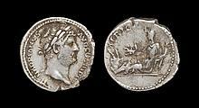 Ancient Roman Imperial Coins - Hadrian - Africa Reclining Denarius