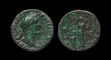 Ancient Roman Imperial Coins - Antoninus Pius - Salus Sestertius