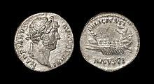 Ancient Roman Imperial Coins - Hadrian - Galley Denarius