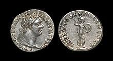 Ancient Roman Imperial Coins - Domitian - Minerva Denarius