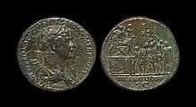 Ancient Roman Imperial Coins - Trajan - Imperator Sestertius