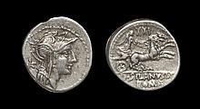Ancient Roman Republican Coins - D. Junius Silanus - Victory in Biga Denarius