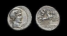 Ancient Roman Republican Coins - C. Vibius Cf Pansa - Minerva in Quadriga Denarius