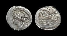 Ancient Roman Republican Coins - C. Considius Paetus - Victory in Quadriga Denarius