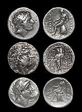 Ancient Greek Coins - Seleukid Kingdom - Antiochus III to Antiochus VIII - Tetradrachm Group [3]