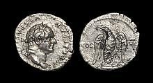 Ancient Roman Imperial Coins - Vespasian - Eagle Denarius