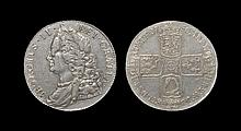 English Milled Coins - George II - 1750 - Crown