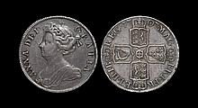 English Milled Coins - Anne - 1707 SEPTIMO - Halfcrown