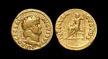 Ancient Roman Imperial Coins - Nero - Jupiter Gold Aureus
