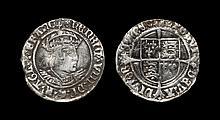 English Tudor Coins Henry VIII - Profile Groat