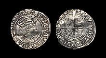 English Tudor Coins - Henry VIII - Profile Groat