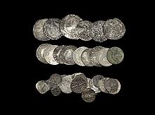 English Medieval Coins - Henry II to George IV - Mixed Silver Coin Group [40]