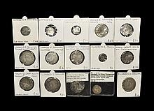 English Medieval Coins - Henry VI to Commonwealth - Mixed Silver Coin Group [15]