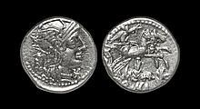 Ancient Roman Republican Coins - M. Marcius - Victory in Biga Denarius