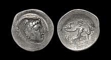 Celtic Iron Age Coins - Danubian - 'Macedonia' - Imitative Zeus Tetradrachm