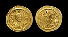 Ancient Byzantine Coins - Justin II - Constantinopolis Gold Pseudo-Solidus