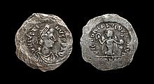 Ancient Byzantine Coins Justin - Silver Victory Unofficial Issue 'Siliqua'