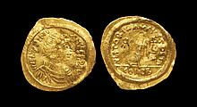 Ancient Byzantine Coins - Justinian - Victory Gold Tremissis