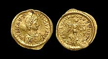 Ancient Byzantine Coins - Anastasius - Victory Gold Tremissis
