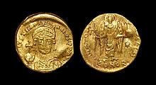 Ancient Byzantine Coins - Justinian I - Angel Gold Pseduo-Solidus