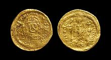 Ancient Byzantine Coins - Justinian I - Angel Gold Pseudo-Solidus