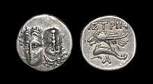 Ancient Greek Coins - Thrace - Istros - Sea Eagle Drachm