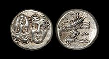 Ancient Greek Coins - Thrace - Istros - Eagle and Dolphin Drachm