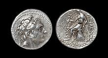 Ancient Greek Coins - Syracuse - Antiochus III - Apollo Tetradrachm