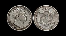 English Milled Coins - William IV - 1836 over 1835 - Halfcrown