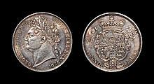 English Milled Coins - George IV - 1820 - Halfcrown